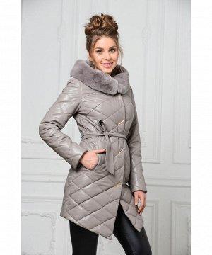 Утеплённое пальто из эко-кожиАртикул: RL-669-1-B