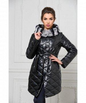 Красивое пальто из эко-кожи с капюшономАртикул: RL-669-1-CH
