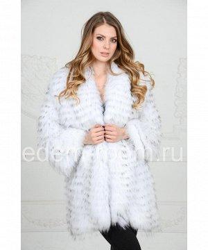 Шикарное меховое пальто из лисыАртикул: R-1196-BS