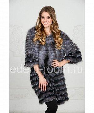 Меховое пальто в росшив на кашемиреАртикул: R-2217-90-CH