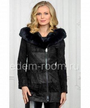 Замшевая куртка с капюшоном Артикул: S-1058-Z