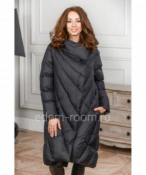 Чёрное пуховое пальтоАртикул: 9201-2-100-CH