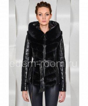 Кожаная куртка - жилетка из меха норкиАртикул: S-1519-N