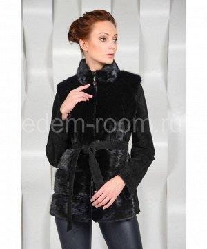 Осенне - весенняя куртка отороченная мехом норкиАртикул: S-33112-N