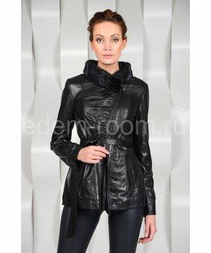 Межсезонная кожаная курткаАртикул: S-1619-N