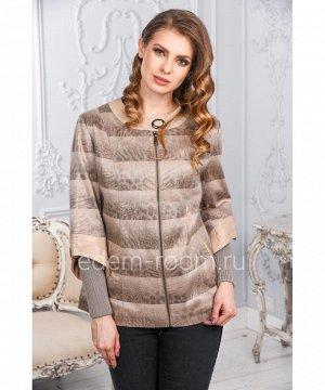 Куртка из эко-замши на молнииАртикул: NT-1832-B