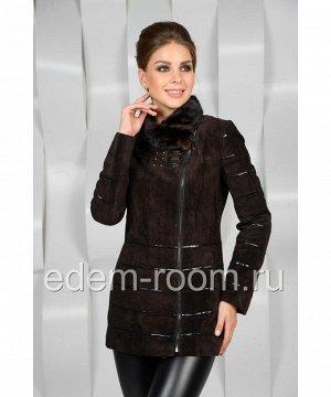 Удлинённая замшевая курткаАртикул: S-1533