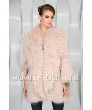 Меховое пальто из лисы на кашемиреАртикул: R-1196-R