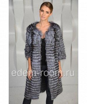Меховое пальто в росшив из чернобуркиАртикул: RE-3041-100-CH
