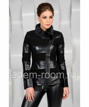 Комбинированная демисезонная курткаАртикул: I-8400-CH