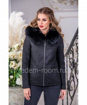 Дублёнка - куртка из не натуральной замшиАртикул: GL-9012-65-2-CH-P