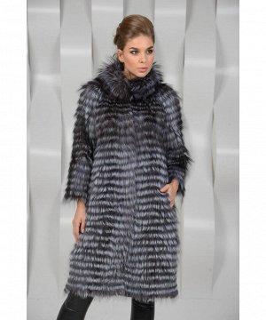 Меховое пальто из чернобурки на кашемиреАртикул: J-031-ch