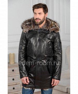 Кожаная куртка на меху из тосканыАртикул: VR-2043-2-EN