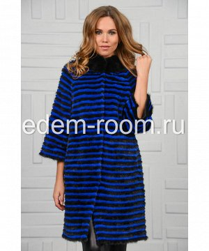 Синее пальто из норкиАртикул: 123-NRS