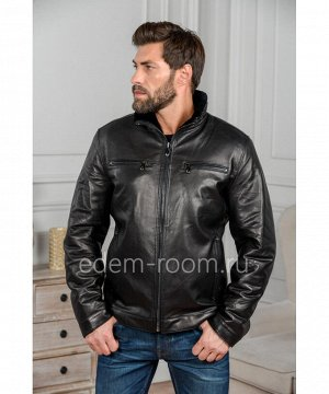Дубленка - куртка черного цветаАртикул: IG-402-C