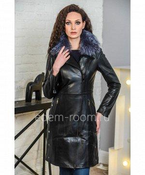 Демисезонный кожаный плащ - 2019Артикул: HC-1902-95-CH
