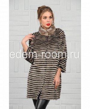 Меховое пальто из норкиАртикул: 14001-A-SCH