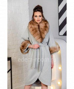 Женское пальто со съемным воротникомАртикул: N-5183-115-SR-P