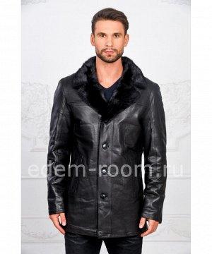 Чёрная дубленка - куртка из овчиныАртикул: I-83088-N