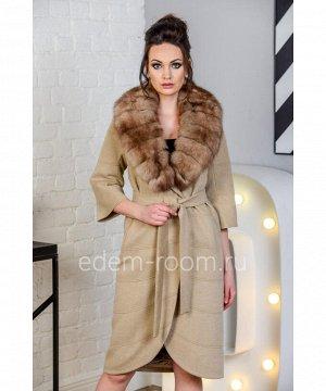 Демисезонное пальто с мехомАртикул: N-5274-110-BG-P