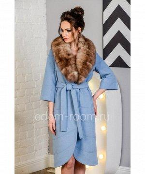 Голубое пальто для межсезоньяАртикул: N-5274-110-GL-P