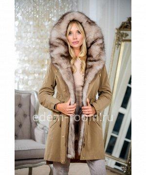 Зимняя парка-пальто с мехомАртикул: V-19085-90-BG-P