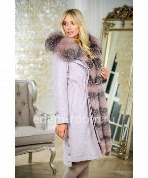 Женская зимняя парка - пальто с песцовой оторочкойАртикул: V-5305-110-P-P
