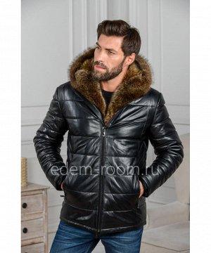 Теплая мужская куртка из кожиАртикул: I-1831-2-EN