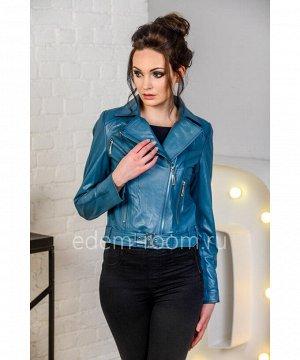 Кожаная куртка - косуха из натуральной кожи на женщинуАртикул: N-1916-55-SN
