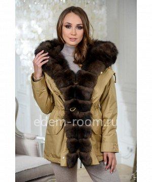 Куртка - парка с мехом песцаАртикул: TG-2872-75-ZL-P