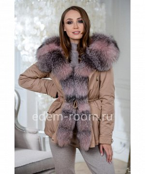 Куртка - парка с мехом для зимыАртикул: DJ-5621-70-KM-P