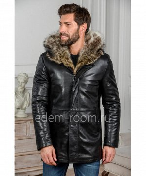 Мужская зимняя куртка из кожиАртикул: C-3226-2-EN