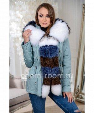 Зимняя куртка-парка с меховым капюшономАртикул: DJ-5621-70-GL-PL