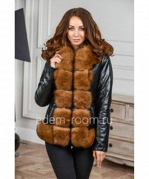 Короткая куртка из экокожи с мехомАртикул: RS-985-60-P