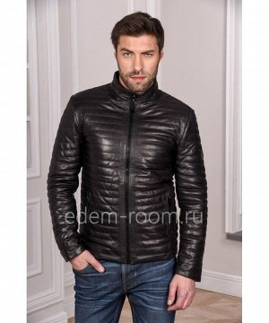 Демисезонная кожаная курткаАртикул: VR-3542-CH