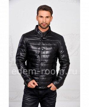Демисезонная мужская кожаная курткаАртикул: W-77