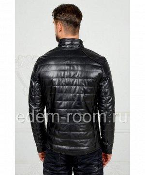 Утеплённая кожаная куртка для мужчинАртикул: VR-3312-CH