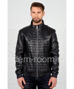 Мужская кожаная куртка на резинккеАртикул: VR-410-CH