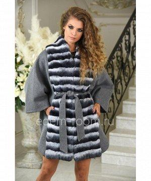 Пальто - пончо из шерсти альпаки и орилага для весны и осениАртикул: A-1776813-85-SR-HC