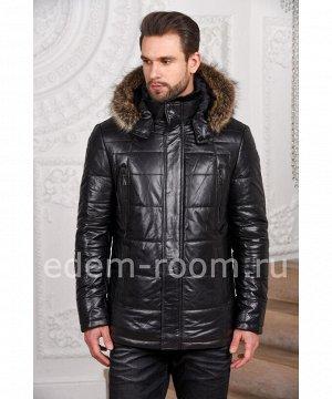 Мужская кожаная куртка для зимыАртикул: C-52804-EN