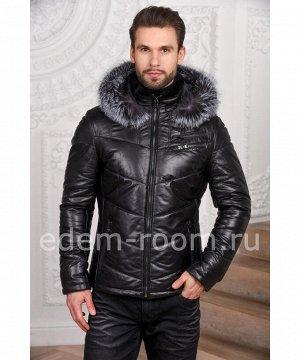 Кожаная мужская кожаная куртка - Зима 2019Артикул: C-52805-CH