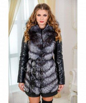 Зимняя куртка-жилетка из меха чернобуркиАртикул: EN-980-75-2-CH