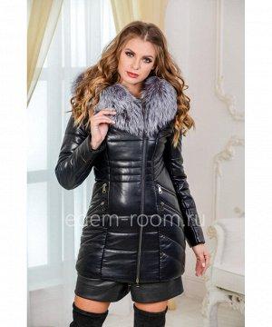 Зимняя куртка из экокожиАртикул: I-1905-75-2-CH