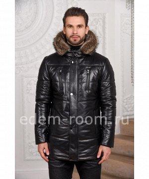 Зимняя мужская кожаная курткаАртикул: C-15802-EN