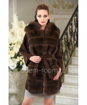 Осенне- весеннее пальто с мехомАртикул: P-1826-80-KR-P