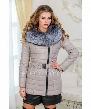 Зимняя куртка из искусственной кожиАртикул: I-1901-75-2-SR-CH