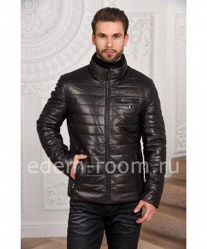 Зимняя куртка из кожи для мужчинАртикул: C-52806
