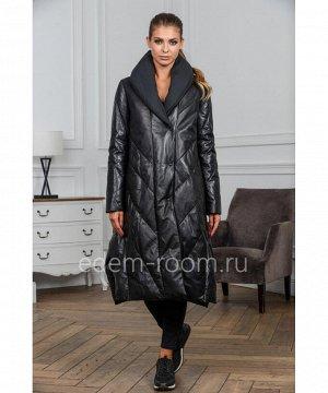Пуховое пальто из натуральной кожиАртикул: M-18127-115-CH
