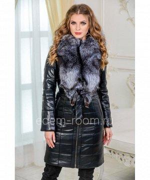 Зимнее пальто с меховым воротникомАртикул: I-199-100-2-CH
