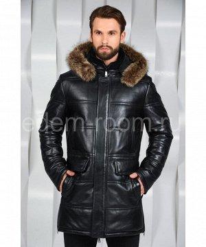 Мужская кожаная куртка с мехомАртикул: I-8809-1-EN